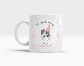 Personalized Kids Small Ceramic Mug. Cute Bunny Mug. Childrens mugs. Rabbit ears