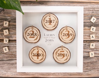 5th wedding anniversary gift. 5th anniversary wood gift. Rustic wood slice art. Carved wood wall art. Fifth anniversary.