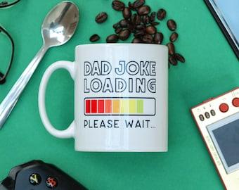 Dad jokes funny fathers day mug, gamer dad gift, fathers day gift from daughter, fathers day gift from son
