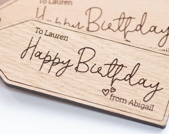 Happy Birthday gift tag, custom hang tags, best friend gift