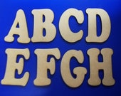 Cooper Black Font Wooden Letters - Laser Cut MDF - 5cm 7.5cm 10cm 12.5cm 15cm 20cm high wood letters - Perfect for signs and craft use