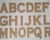 Copperplate Font Wooden Letters - Laser Cut MDF - 5cm 7.5cm 10cm 12.5cm 15cm 20cm high wood letters - Perfect for signs and craft use