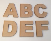 Arial Font Wooden Letters - Laser Cut MDF - 5cm 7.5cm 10cm 12.5cm 15cm 20cm high wood letters - Perfect for signs and craft use