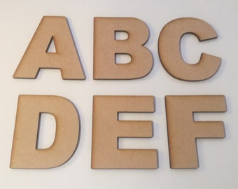 Alphabet /& Numbers  Sizes 2-10cm Crafts Weddings CB Wooden MDF Cooper Letters