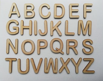 Arial Rounded Font Wooden Letters Laser Cut MDF 5cm 7.5cm 10cm 12.5cm 15cm  20cm 25cm 30cm high wood letters - Perfect for signs & craft use