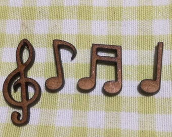 Musical Note Embellishments - Pack of 30 Wooden Craft Shapes