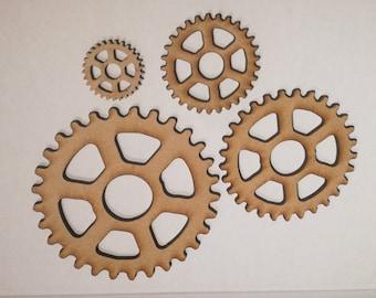 Cogwheel Embellishment - Wooden Craft Shape