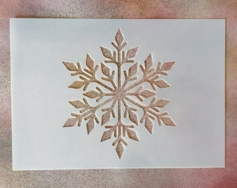 Snowflake Stencil - Reusable 190-micron Mylar - A7, A6, A5, A4, A3