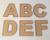 Arial Font Wooden Letters - Laser Cut MDF - 5cm 7.5cm 10cm 12.5cm 15cm 20cm 25cm 30cm high wood letters - Perfect for signs and craft use