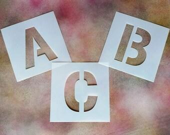 Large Reusable Uppercase Letter Stencil - 190-micron Mylar - Various Heights: 10cm, 12cm, 15cm, 20cm