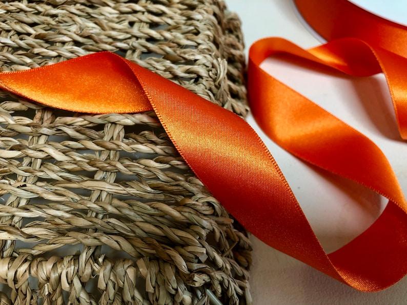 Berisfords premium Quality Shade 42 Orange Delight Double Faced Satin Ribbon Choose Length /& Width