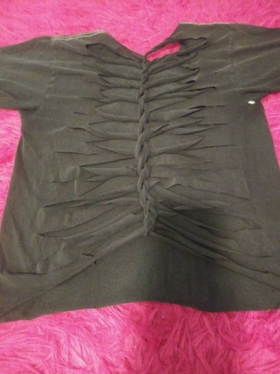 O.O.A.K Vintage Classic Rock Shredder Sliced Upper Back Sliced Sleeves