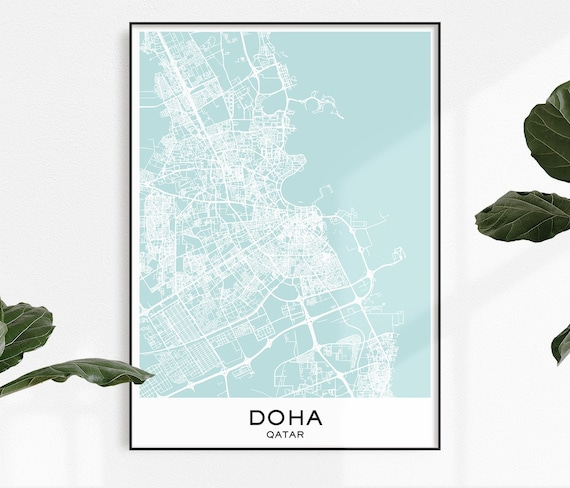 Doha Map Print, Map Print Doha, City Print Doha, Doha Poster, City Doha Map on tanzania map, united arab emirates map, al udeid air base, middle east map, dead sea map, bahrain map, doha corniche, qatar airways, dushanbe map, qatar map, riyadh map, sana'a map, al jazeera, ankara map, kuwait map, abu dhabi, education city, world map, abu dhabi map, manama map, dubai map, mosul map, medina map, kuwait city, doha international airport, damascus map, jerusalem map, souq waqif, baghdad map, aspire tower,