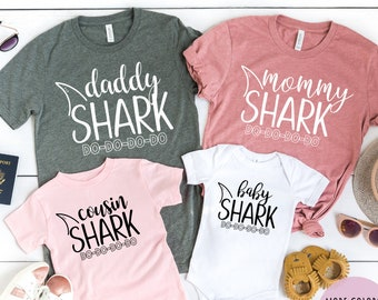 c05c0c32 Mommy and Me Shirts, Matching Family Shirts, Mommy Daddy Baby Shark DO DO  DO Matching Shirts Matching Mommy and Me Outfits Shark Family