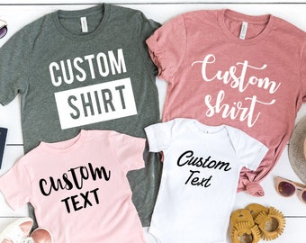 0290388b Custom Shirt, Custom Shirts, Custom T-shirt, Personalized T-shirt, Family T- shirt, Family Shirt, Personalized Shirt, Matching Family Shirt