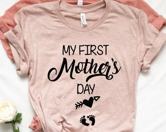26c9ebc55 My First Mother Day Arrow Shirt First Mothers Day Shirt Mom to be Pregnancy Shirt  Baby Shower Gift Pregnancy and Mommy to be Outfits