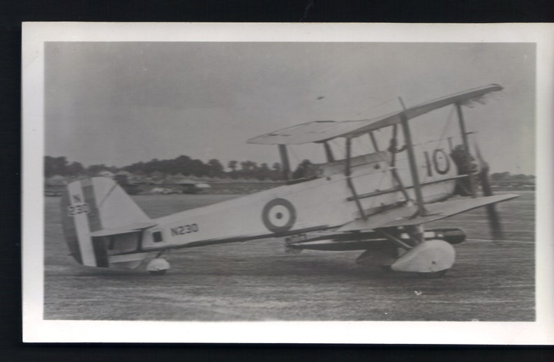 Vickers Vildebeest III Torpedo Bomber R.A.F.Fighter Plane Vintage BW Photo Original Print 1129