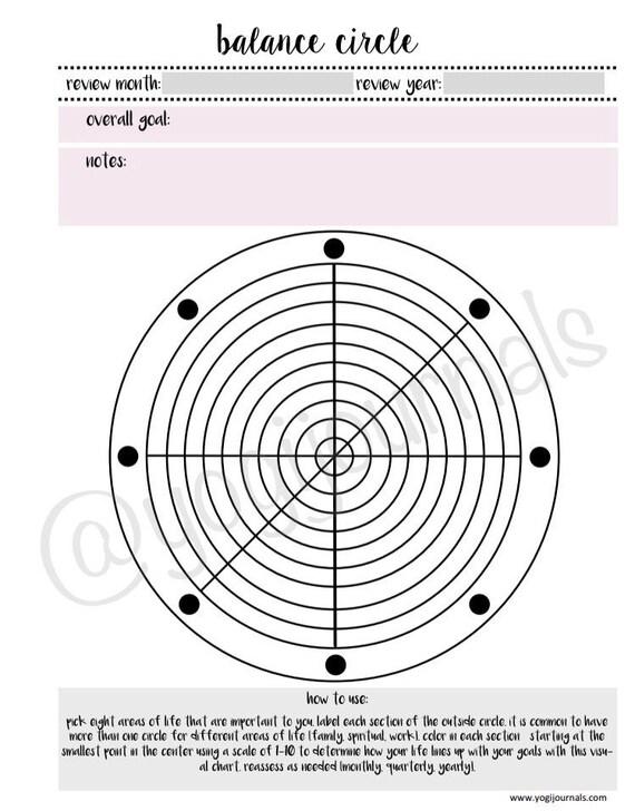 Balance Circle Self Care Printable