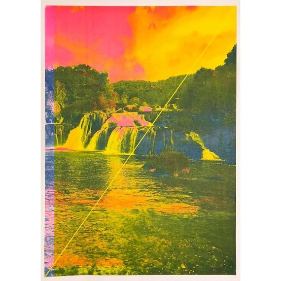Riso A2 art prints by Super Terrain