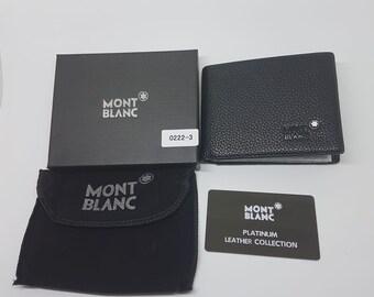 7b280f4112a93 Mont Blanc Brand New Black Genuine Leather Men Wallet (Fast Shipping) Mont  Blanc Designer Wallet.