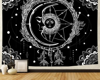 Sun and moon tapestry | Etsy