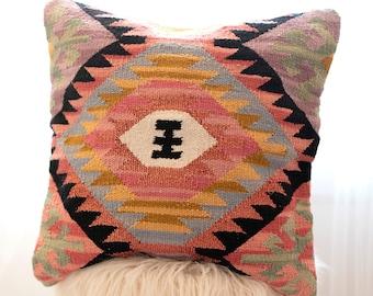 Cushion Cover Black Kilim Pillow Cover Kilim Pillow 18x18 Rustic Pillow Cover Decorative Pillow Orange Decorative Pillow Mustard \u88c5\u98fe\u6795