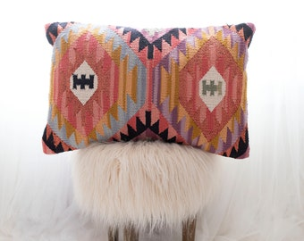 Boho Striped Tufted and textured 20 x 20 inch Green Striped Multicolor Pillow Cover Adele Pillow Cover Hand Woven Throw Pillow Cover