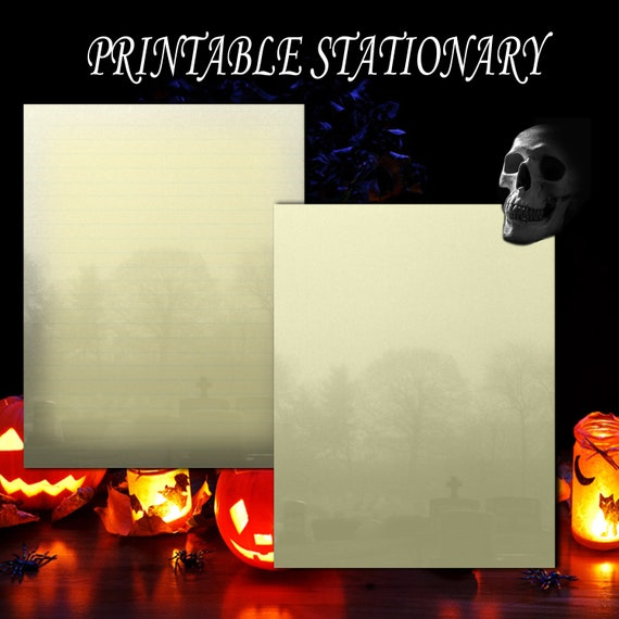 This is a photo of Halloween Stationery Printable with regard to word