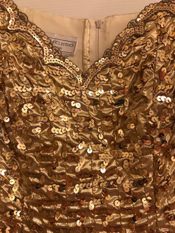 Vintage Gunne Sax Gold Party Dress - image 3
