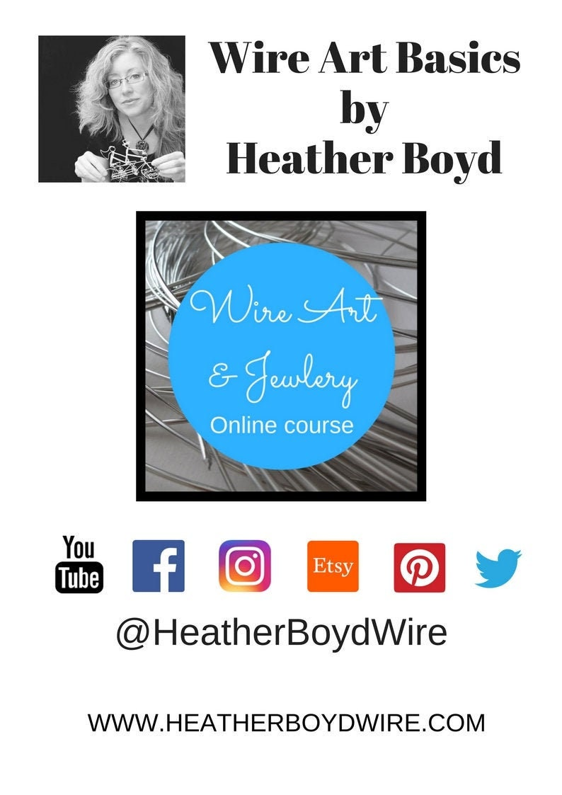 Wire Art Course by Heather Boyd Wire // PDF e-book and Private image 0