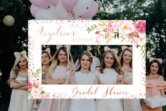 Floral Photo Booth Frame Photo Booth Prop Photo Prop Frame Birthday photo booth frame Printable 24x36 Watercolor Floral