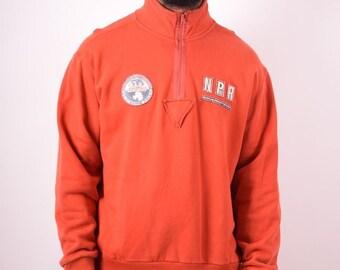 bff424afc5 Napapijri mens vintage 90s orange XL sweatshirt.