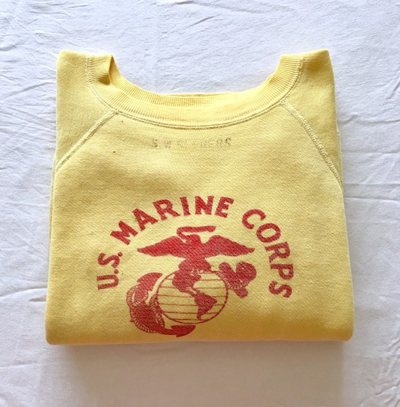1950s Yellow USMC Marine Corps Loopwheeled Sweatsh
