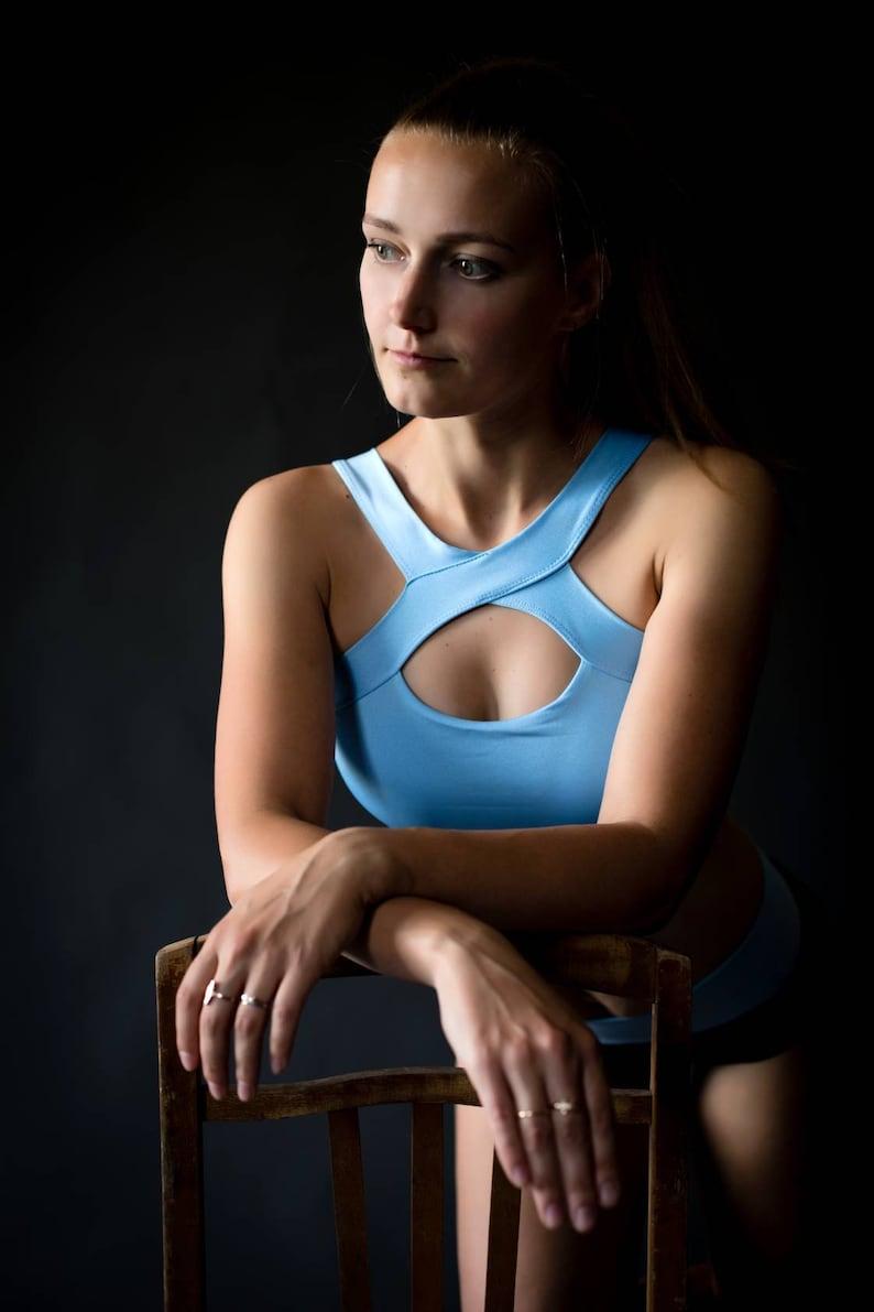 Polewear suit 2pc Workout outfit Gym Twerk Yoga Fitness shorts Sport bra Pole dance wear print Top and Shorts