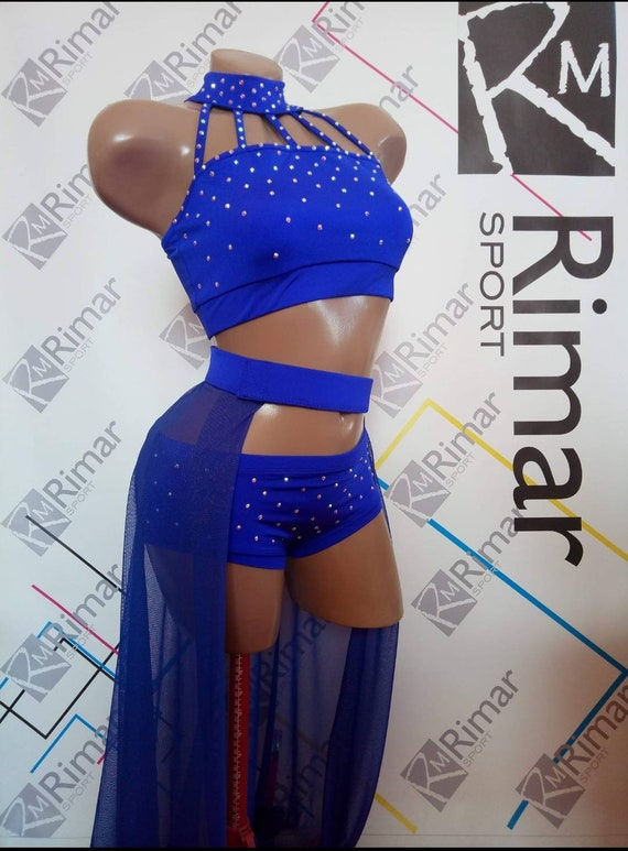 Shorts and Skirt exotic 3pc dance wear Gym Twerk Yoga Fitness shorts Sport bra Polewear suit Workout outfit Pole dance wear Top