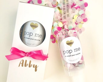 Flower Girl Proposal Confetti Popper- Surprise Custom Message, Flower Girl Gift Box, Junior Bridesmaid Proposal, Will You Be My Bridesmaid