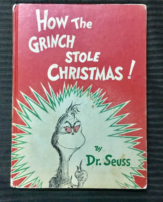 How The Grinch Stole Christmas Book.How The Grinch Stole Christmas Book Vintage Dr Suess