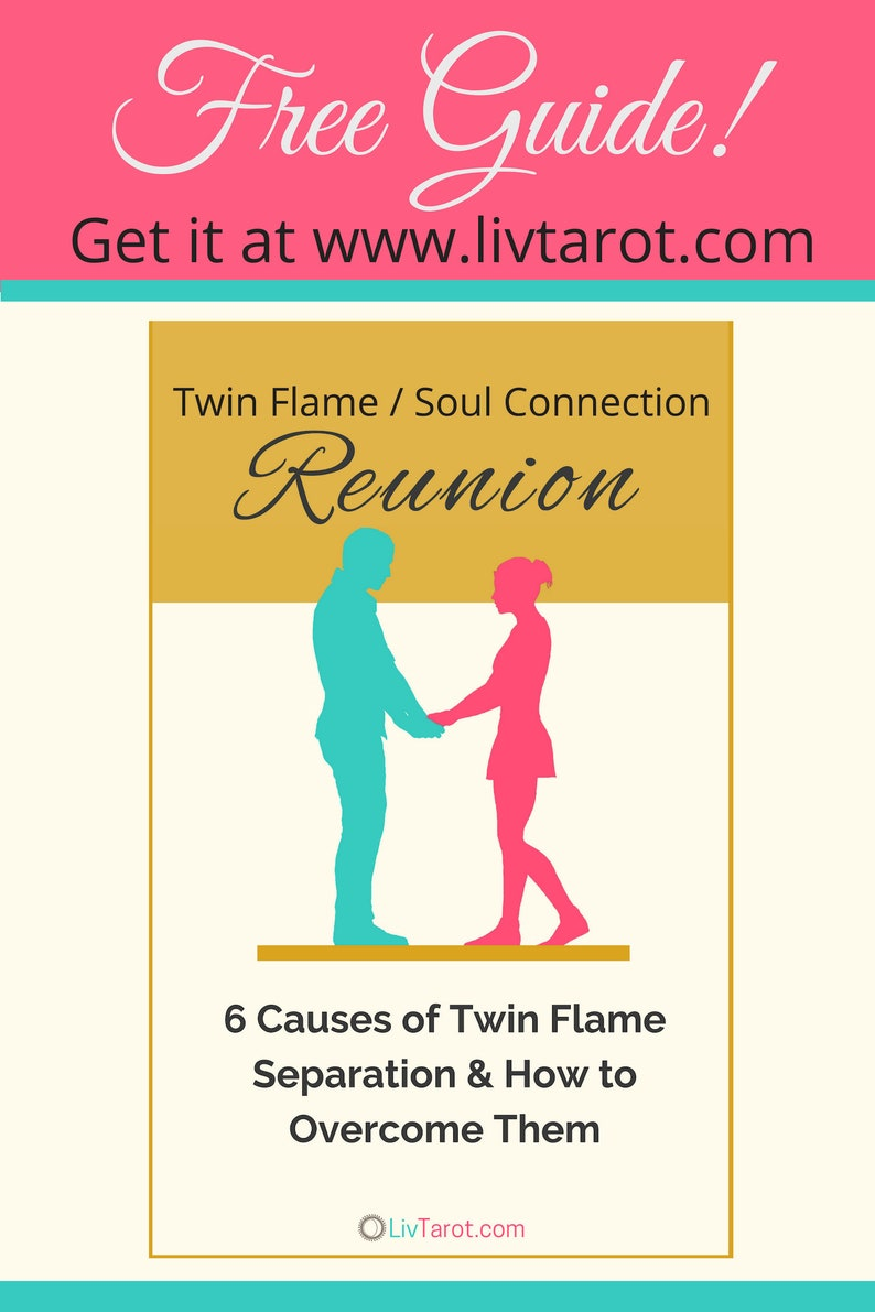 Twin Flames in Separation Oracle Deck  Love Oracle Cards  Tarot cards
