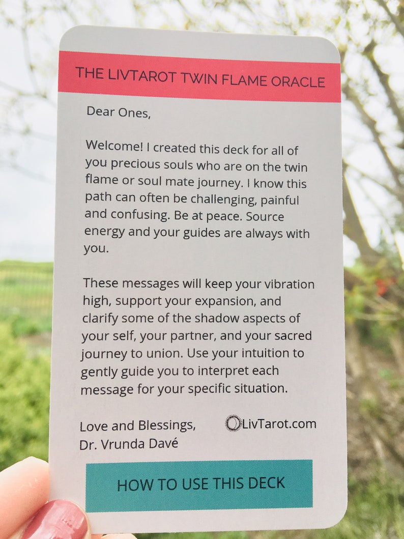 Twin Flame Oracle Deck  Love Oracle Cards  Tarot Cards