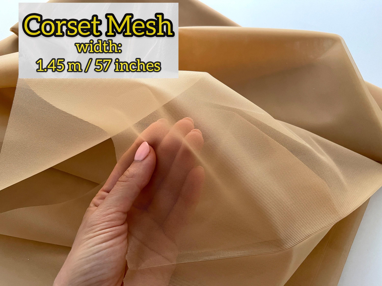 Сильные темные обнаженная корсетная сетка, нет растяжения корсетной ткани, мягкая сильная сеть для корсета, Ткань сетки power Net, Корсет Ткань, Корсет шитье