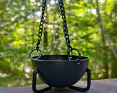 Small Cauldron Burner - Hanging Black Cauldron - Smudging Incense Sage Pot 2.75 quot
