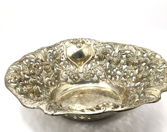 Small Pitch Bowl with Base Chasing and Repousse Bowl silversmith jeweller