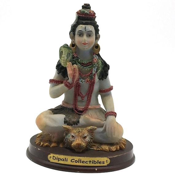 """Vintage Hindu God Shiva 12/"""" Handcarved Statue Siva Figurine Sculpture Murti Idol"""