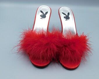17ae3c60ee2 Marabou feather shoe | Etsy