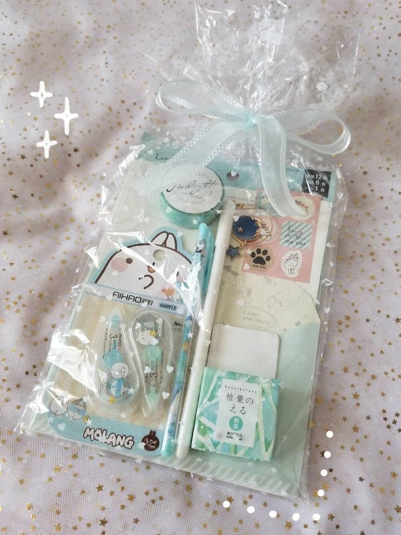 Kawaii blue stationery gift set