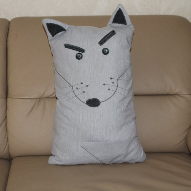 Cuddle Pillow Wolf | Etsy
