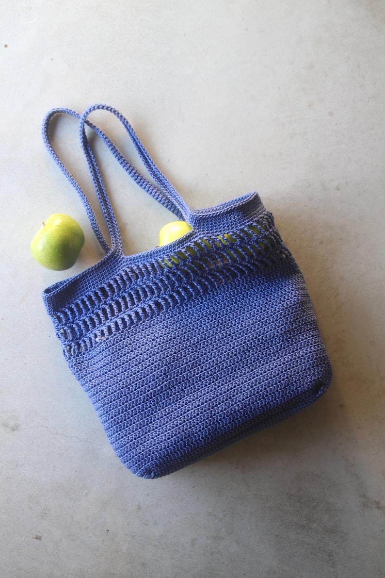 Crochet Easy Tote Market Summer Modern Grocery Bag Crochet image 1