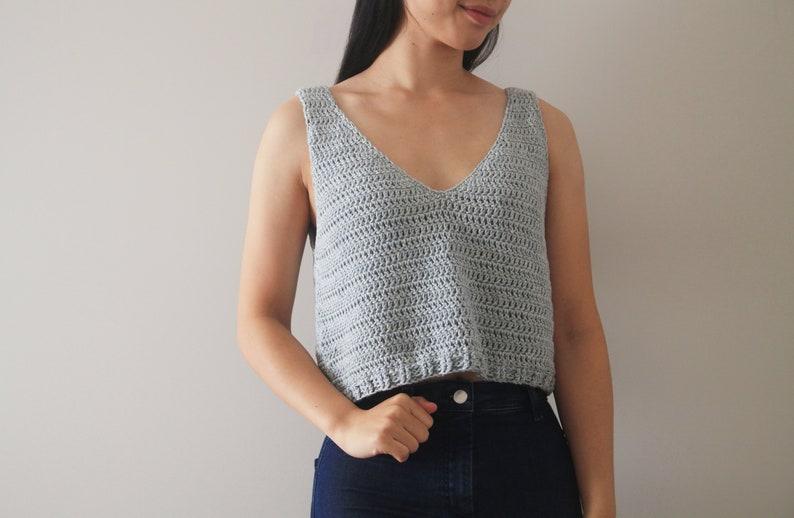 Crochet Sea Breeze Tank Top  Crochet pattern pdf instant image 0