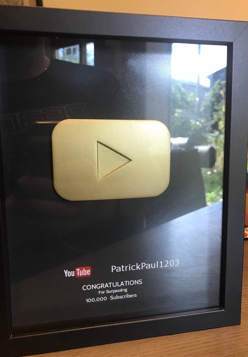 YouTube Play Button Framed with Letter