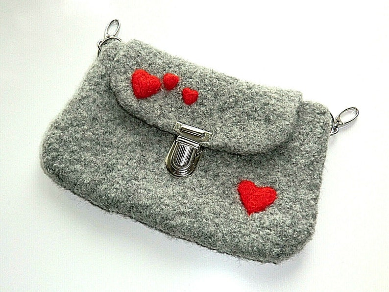 Handytasche Tasche Gürteltasche Hüfttasche Bauchtasche Filztasche Handmade Filz